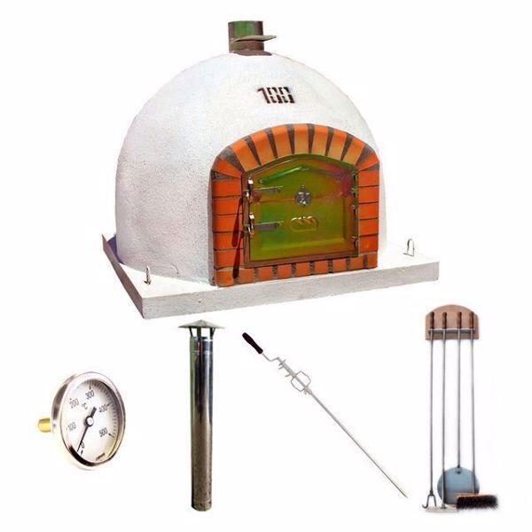 Lot Four à pizza à bois 100cm, Accessoires, Cheminée et Thermomètre