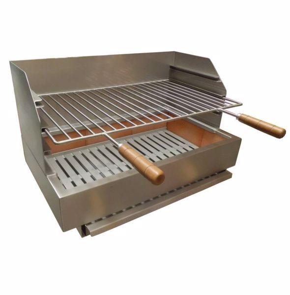 Grilloir barbecue en inox a poser 70cm Premium
