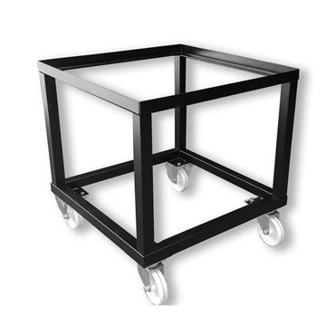 Support en metal avec roues pour fours a bois
