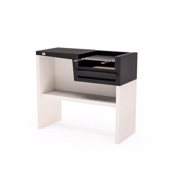 Barbecue verticale PLAN Short charbon et feu de bois