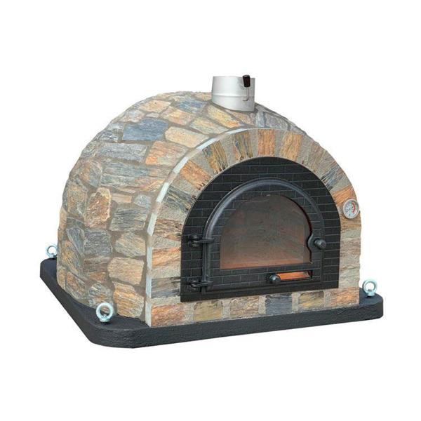 Four à bois pour pain et pizza en pierre naturelle
