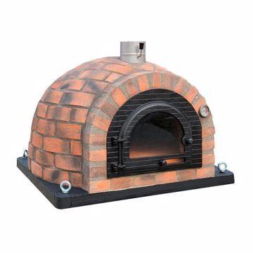 Four à pizza au feu de bois en brique réfractaire avec isolation totale